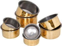 Polish Gold Brass Cooking Handi / Brass Tope
