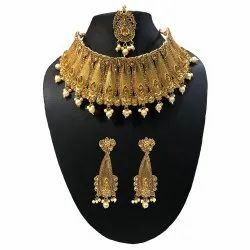 Wedding Wear Golden Necklace Set - PS_151
