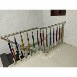 Stairs Polished Stainless Steel Staircase Railing