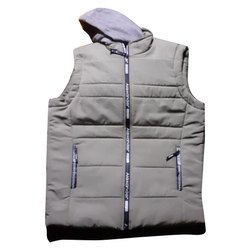 Memory Casual Wear Mens Grey Sleeveless Jackets