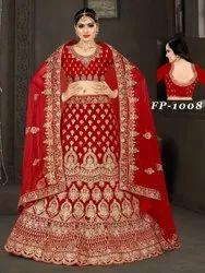 Semi stitched Ethnic Wedding Lehenga