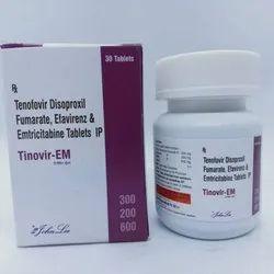 Tenofovir Disproxil Fumarate IP 300 Mg, Efavirenz IP 200 Mg, Emtricitabine IP 600 Mg Tablets