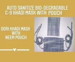 Organika Reusable C-9 Dori Khadi Mask With Pouch, Certification: Iso 9001-2015, Number of Layers: 2 Layers