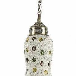 Glass,Brass Mosaic 3 W Decorative Glass Hanging Lamp