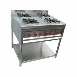 Commercial Gas Range, For Cooking, Number Of Knob: 4