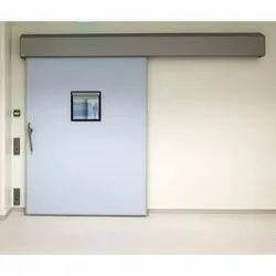 White Rectangular Sliding Door, For Hospital
