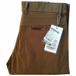 Brown Office Wear Mens Plain Pant