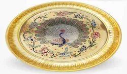 Brass Medium Puja Plates