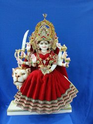 12 Inch Marble Durga Statue