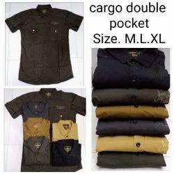 Cargo Doubble Pocket Mens Shirt