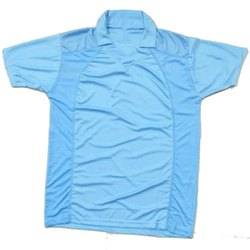 Plain Polyester Mens Collar Neck Sports T Shirt, Size: S-XXL