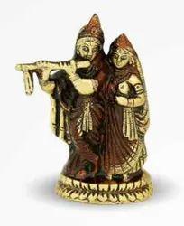 750 Gm Brass Statue Radha Kishan Ji