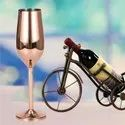 Stainless Steel Wine Glasses Copper And Gold Finish