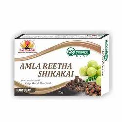 CowNatural Amla Reetha Shikakai Soap, Bar, Packaging Size: 6cm*9cm
