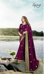 Elegant Stylish Border Silk Saree