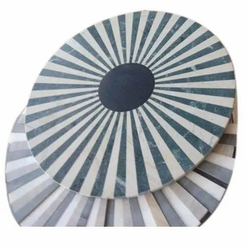 Double Charged Round Stone Table Top, 20 Mm