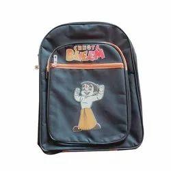 Unisex Polyester Kids Chota Bheem Print School Bag, Capacity: 9 Litre