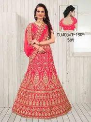 Ladies Ethnic Bollywood Designer Embroidered Lehenga Choli