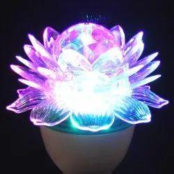 A-Vindra LED Revolving Lotus Decorative Light, Plug-in