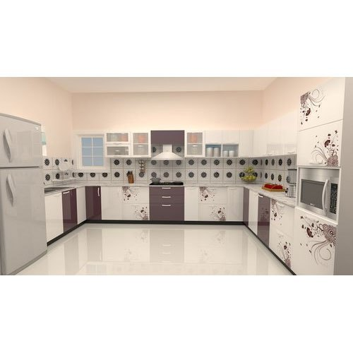 Modern U Shaped Pvc Kitchen Designing Service