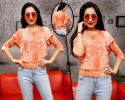 Orange Short Length Ladies Cotton Top