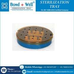 Sterilization Round Plastic TRAY With Strip