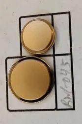 Copper Button, For Garments, Round