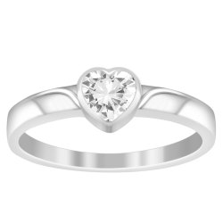Stackable 925 Sterling Silver 0.50 Ctw White Zirconia Gemstone Handcrafted Ring