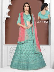 Semi Stitched Ethnic Bollywood Silk Lehenga Choli