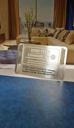 Metal Visiting Card, Size: Standard