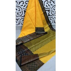Banarasi Muslin Tanchoi Skirt Saree