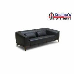 Krishnas Decor Leather Two Seater Sofa