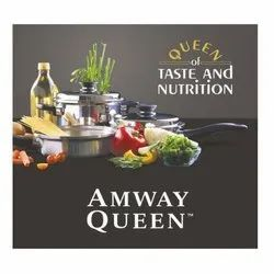 Silver Stainless Steel Amway Queen 5 Piece Cookware Set