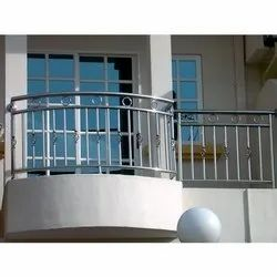 Galvanized Stainless Steel Balcony Railing, Material Grade: Ss 302