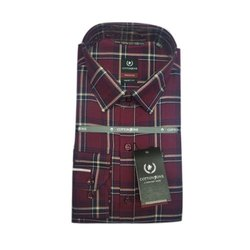Cotton Zone Collar Neck Men Check Stylish Shirt, Size: S-xxl