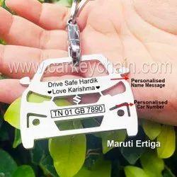 Maruti Ertiga Car Custom Keychain Car Name Number Personalized Custom Keychain