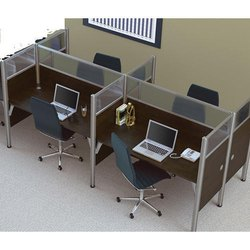 Wooden Brown Modular Office Cabin, Seating Capacity: 4