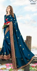 Fancy Designer Vhichitra Silk With Embroidery Saree