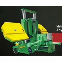 LMG 800 M Double Column Semi Automatic Band Saw Machine (with Pusher)