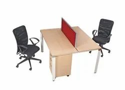 EW-308 Face To Face Workstation With Metal Legs