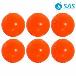 Cricket Practice Wind Ball (Set Of 6) - Orange