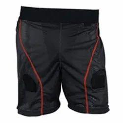 Black Plain Hockey Shorts