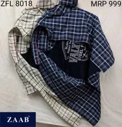 ZFL 8018 Men Shirt With Attached Printed T-Shirts