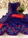 Vichitra Silk Saree With Blouse Piece