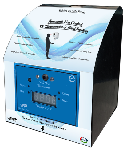 Wall Mount IR Thermometer & 1.2 Litre Hand Sanitizer