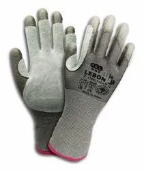 Steeltech/30_Cut Level E_Seamless Knitted Dipped and palm Leather Gloves