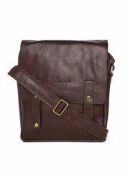 Tan,Brown BagsRUs Unisex Brown Solid Messenger Bag, Size: 25 X 3 X 6 Cm