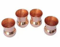 Copper Hammered Drinking Tumbler