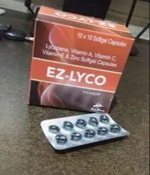 Lycopene 5000mcg,Vitamin A 5000iu,Vitamin C 40mg,VitaminE Acetate 10iu,Zinc 22.5mg(Soft Gel)
