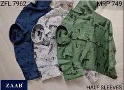 ZFL 7962 Half Sleeve Men Shirts